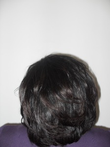 After I flat ironed her hair with the solia on about 350 degrees/heat (it took less than an hour)